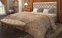 Кровать Рада 140х200 двуспальная кожаная с мягким изголовьем и подъемным механизмом