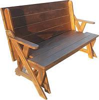 Лавка-стол (трансформер) деревянная № 4