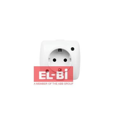 Розетка ALSU біла 1-а з/з накладна EL-BI