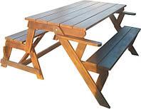 Стол-лавка (трансформер) деревянная