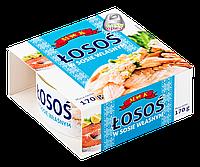 Лосось в собственном соку Losos w sosie wlasnym,170гр (Польша)
