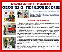 Стенд Пожарная безопасность на строительстве