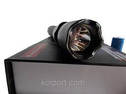 Электрошокер-фонарик фонарь1102 POLICE 2018 года, съемная аккумуляторная батарея, удоропрочный корпус