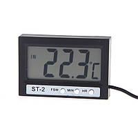 Цифровой термометр часы ST2 с выносным датчиком, фото 1