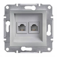 Розетка компьютерная 2XRJ45 6E schneider asfora EPH4800161