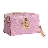 Косметичка женская текстильная (розовая)