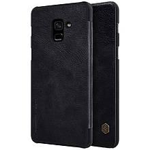 Чехол книжка Nillkin Qin Series для  Samsung Galaxy A8 2018 черный
