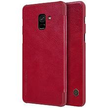 Чехол книжка Nillkin Qin Series для  Samsung Galaxy A8 2018 красный