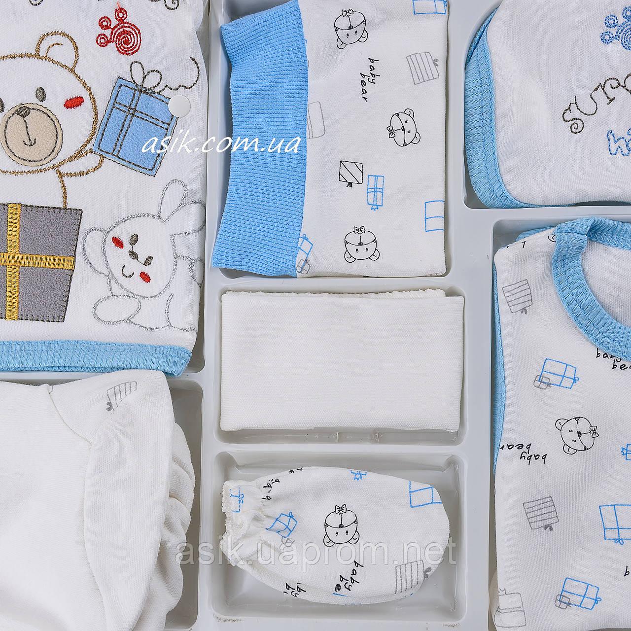"""Набор одежды """"Сюрприз""""- 7 предметов, цвет голубой"""
