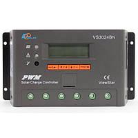 Контроллер, ШИМ 30А 12/24В с дисплеем, (VS3024BN) EPSolar