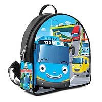 Черный модный детский рюкзак с Тайо