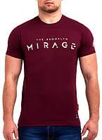 Стильная однотонная мужская футболка с надписью