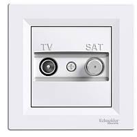 Розетка TV-SAT концевая белая schneider asfora EPH3400421