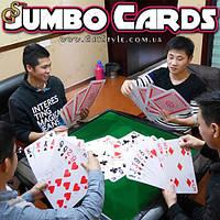 """Игральный карты - """"Jumbo Cards"""" - большой размер! , фото 1"""