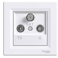 Розетка TV-R-SAT проходная белая schneider asfora EPH3500321
