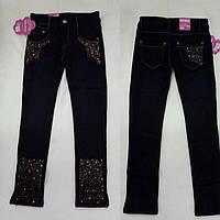 Джинсовые штаны на флисе со стразами для девочки Miss Angel Турция