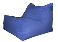 Синее бескаркасное кресло-лежак из ткани Оксфорд