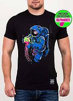 Оригинальная мужская футболка с светящимся рисунком