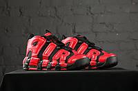 Осенние кроссовки высокие мужскиеNike Air More Uptempo Infrared black_red (Топ качество, найк, реплика) (реплика)