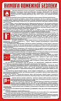 Стенд Условия пожарной безопасности
