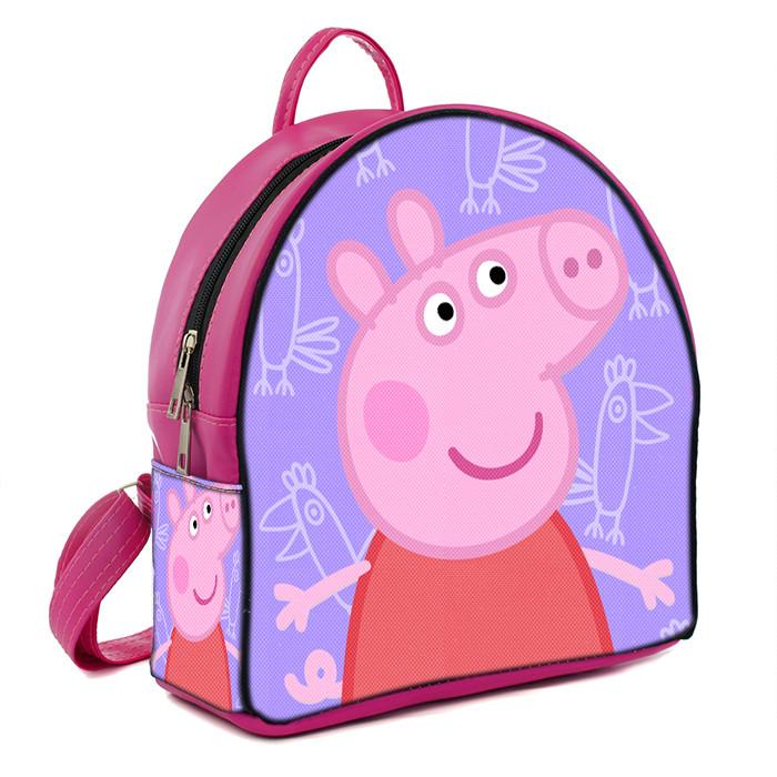 Розовый рюкзак для девочки с принтом Свинка Пеппа