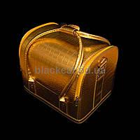 Саквояж для материалов и инструментов металлик золото
