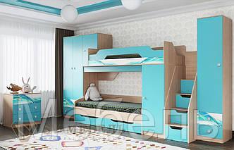 Модульная детская Сити 1 ф-ка SV Мебель