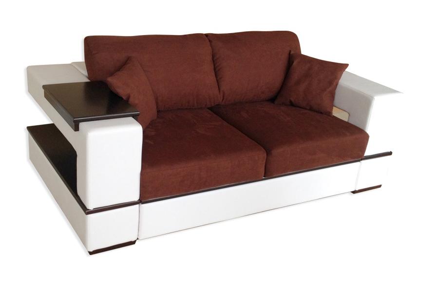 """Двухместный кожаный диван """"Герцог"""" (210 см)"""