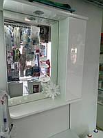 Зеркальный шкафчик 60 см Белый Правый