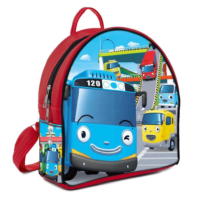 Красный модный детский рюкзак с Тайо