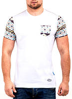 Белая мужская футболка с орнаментом хит продаж