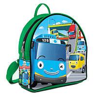 Зеленый модный детский рюкзак с Тайо