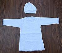 Рубашка крестильная+шапочка(интерлок)