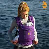 Эрго-рюкзак из шарфовой ткани - Индиго