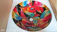 Умывальник стеклянный круглый 420 мм (Мозаика), фото 1
