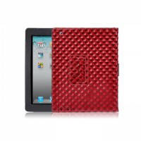 Красный кожаный чехол BRUNO для iPad 2/3/4