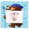 VIKO Розетка Karre с заземлением и крышкой Mедведь с Подарками (90962724)