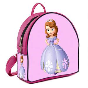 Розовый рюкзак для девочки с принтом Принцесса София