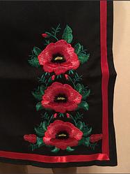 Женская вышитая юбка плахта с маками