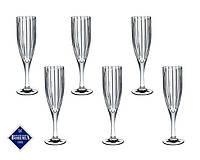 Набор бокалов для шампанского Bohemia Jihlava Карен 180 мл 6 штук 663-069