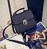 Женская маленькая сумочка на металлической заклепке черная опт