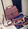 Женская маленькая сумочка на металлической заклепке фиолетовая из экокожи опт