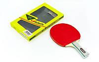 Ракетка для настольного тенниса 1 штука в цветной коробке Дубл. BUT Addoy-D