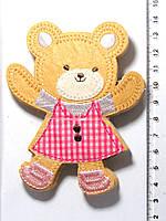 Термо-нашивка - Медвежонок (10,5х8,5см) 1558-01