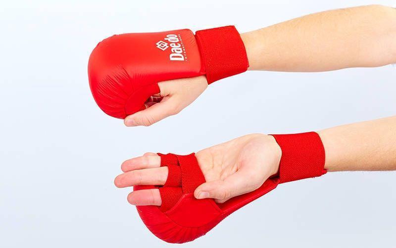 Перчатки для карате DADO BO-5076 (PU, р-р S-L, манжет на резинке)