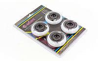Колеса для роликов (4шт) ZELART (колесо PU, р-р 70х24мм, без подшипников)