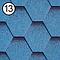 Битумная черепица Roofshield Стандарт №13 синий