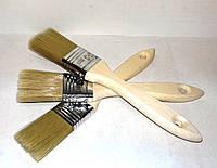 Кисть флейцевая 36/14 нейлоновая с деревянной ручкой