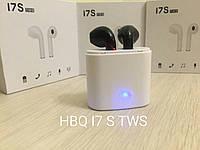Bluetooth наушники HBQ I7S TWS с зарядным кейсом Black