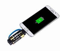 Внешнее зарядное устройство для смартфона на 2 батарейках ААА! Мини зарядка для телефона! Power Bank!, фото 1